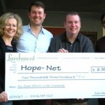 Larchmont Grill Delivers Smiles and Big Check to Hope-Net