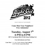 LAPD National Night Out on Larchmont Boulevard Tuesday