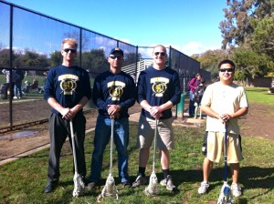 Left to right: Coaches Skyler, Rob, Pete and Michael.