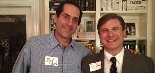 Mitchell Schwartz welcomed candidate Ron Galperin (for City Controller) into his home for a meet and greet.