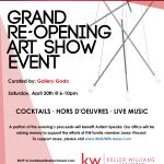 Keller williams grand re opening art show event