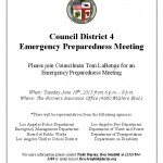 CD4 Community Emergency Preparedness Meeting on Tuesday