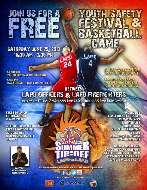 Safe Summer Tip Off - LAPD vs LAFD @ USC Galen Center | Los Angeles | California | United States