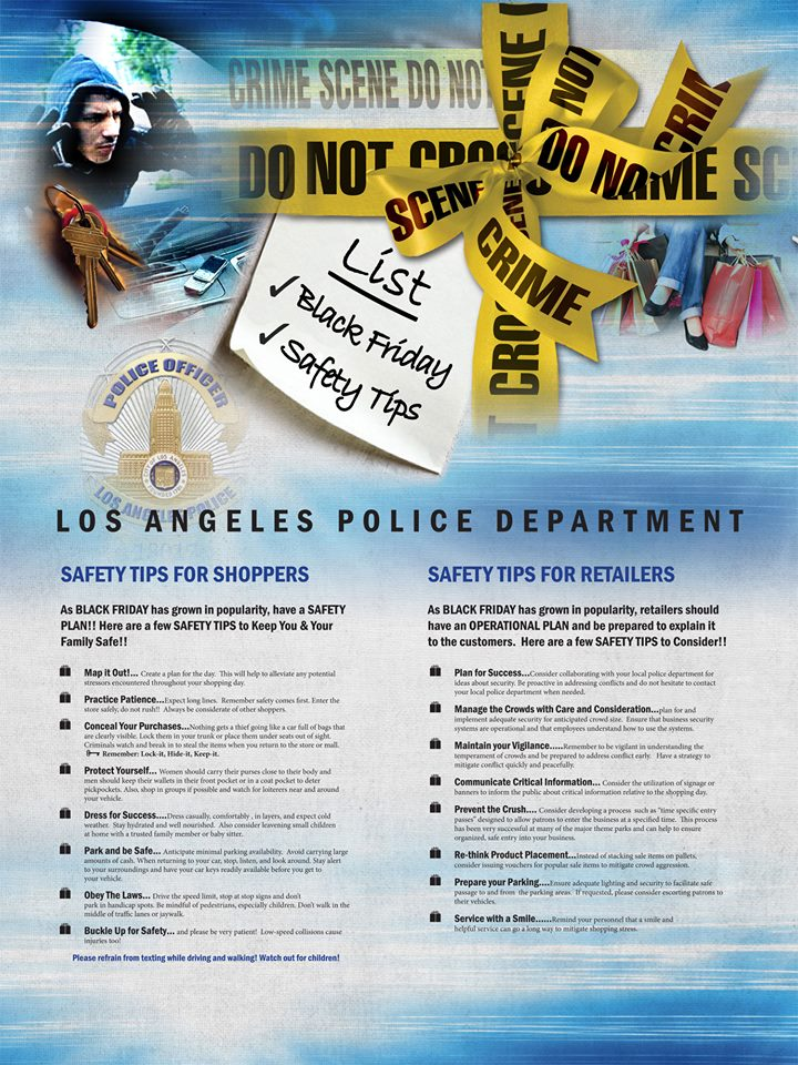 LAPD Shares Black Friday Safety Tips for Shoppers and Retailers