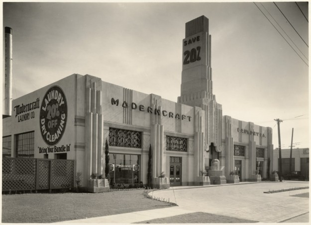 900 North La Brea - originally home to ModernCraft Laundry.  Morgan, Walls and Clement architects (1930). Photo credit: catalog.library.ca.gov