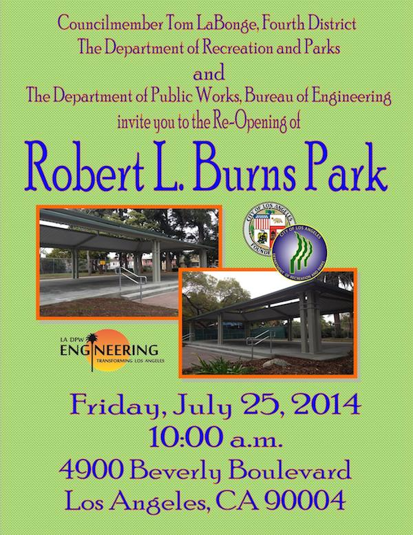 Park Dedication @ Robert L Burns Park | Los Angeles | California | United States