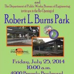 Robert L. Burns Park Area Re-Opens with Renovations For Picnic-Goers