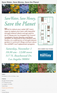 Drought-Tolerant Garden Walking Tour @ Larchmont Village | Los Angeles | California | United States