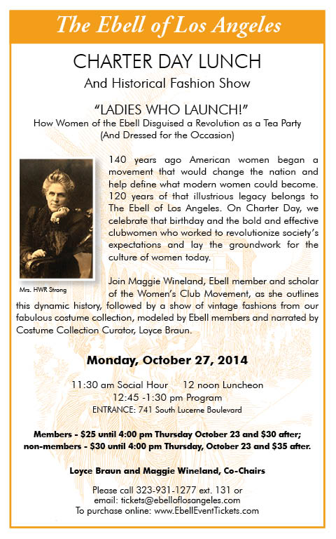"Charter Day Lunch: ""Ladies Who Launch"" @ Ebell Club"
