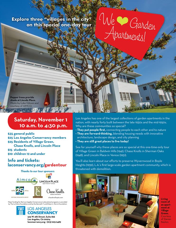 LA Conservancy 'We Heart Garden Apartments' Tour @ Wilshire Ebell | Los Angeles | California | United States