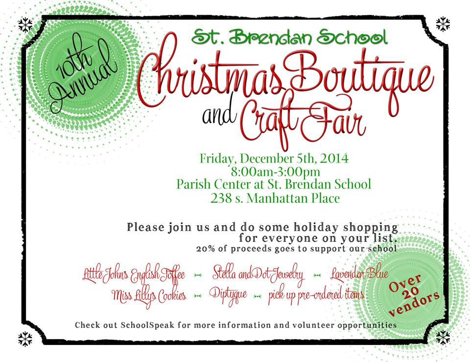 St. Brendan School Christmas Boutique @ St. Brendan Parish Hall | Los Angeles | California | United States