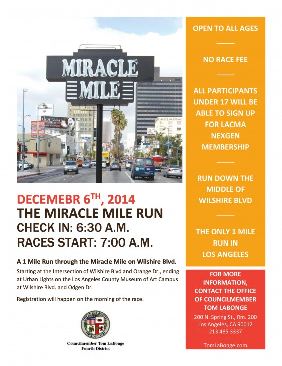 Miracle Mile Fun Run @ Miracle Mile | Los Angeles | California | United States