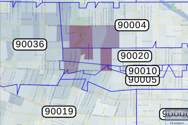 90007 Zip Code Map.California Insurance California Auto Insurance Rates Zip Code