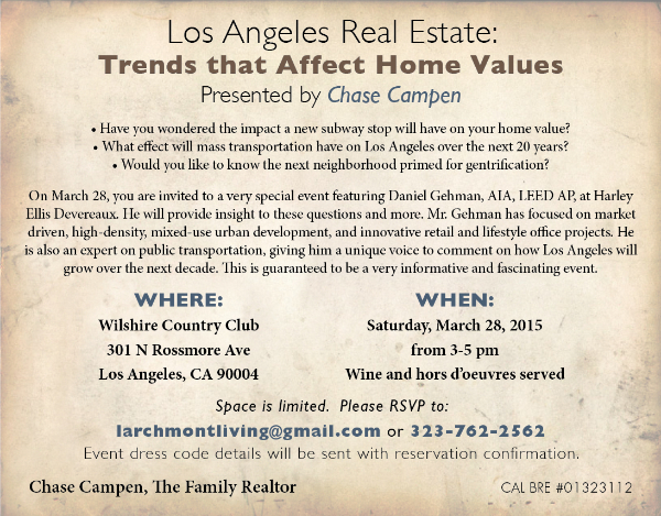 "Trends that Affect Home Values"" with Daniel Gehman @ Wilshire Country Club 