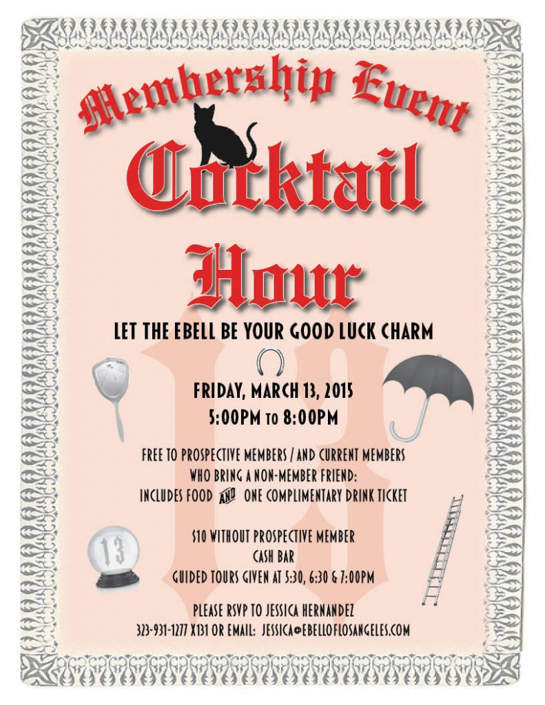 Cocktail Hour-Membership Event @ Ebell Club | Los Angeles | California | United States