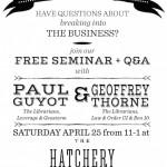 The Hatchery: Screenwriting Seminar on Saturday