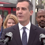 Mayor Officially Opens Wilshire Bus Rapid Transit Lane