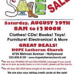 Hope Lutheran Rummage Sale Saturday