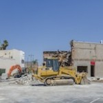 Demolition at Corner of Wilshire and La Brea