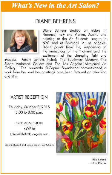 Ebell Artist Reception, Diane Behrens @ Ebell of Los Angeles | Los Angeles | California | United States