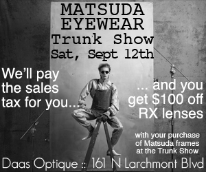 Daas Optique - Matsuda Event - Sept 12