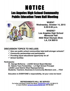 Los Angeles High School Town Hall @ Los Angeles High School Memorial Hall | Los Angeles | California | United States