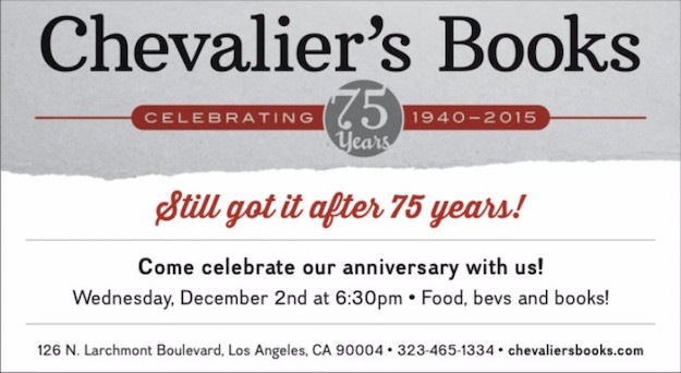 Chevalier's Books 75th Anniversary Celebration @ Chevalier's Books | Los Angeles | California | United States