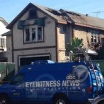 Fire Damages House at 838 S. Crenshaw Blvd.